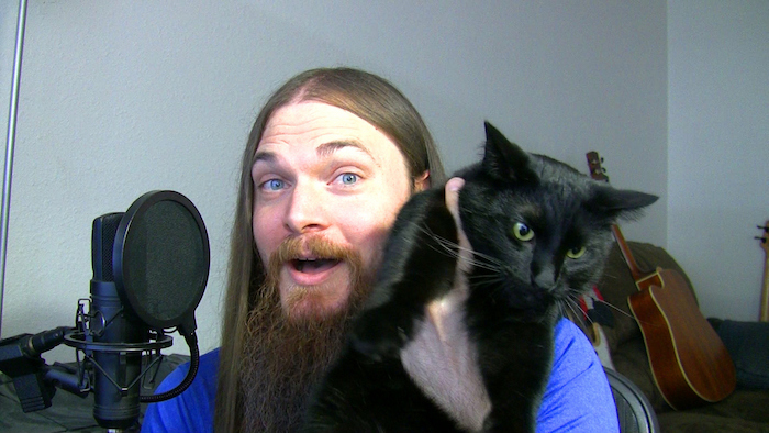 Smooth McGroove avec son chat !