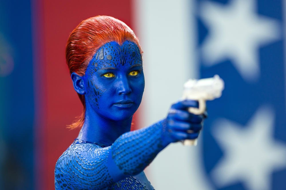 Men     Days of Future Past   les nouvelles images d  233 voil  233 es par    X Men Days Of Future Past Mystique Jennifer Lawrence