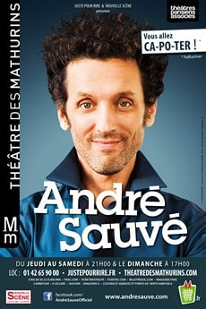 André Sauvé au théâtre des Mathurins