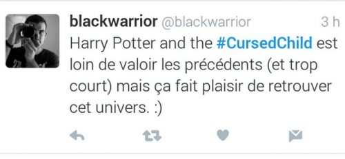 Harry Potter et l'enfant maudit twitter